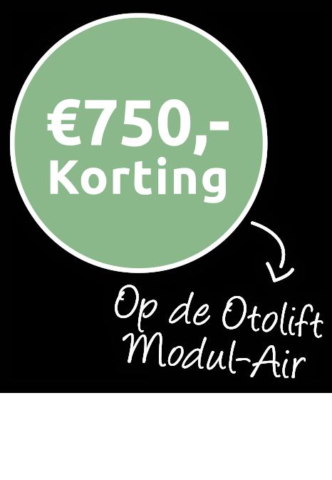 750 korting op modul air