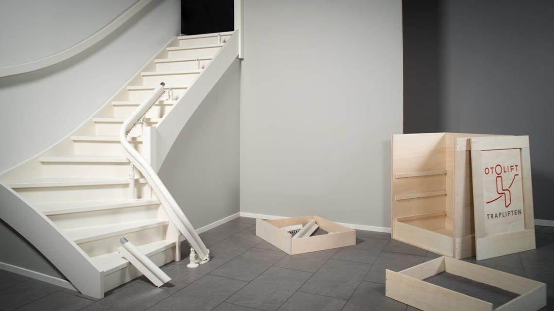 L'Otolift Modul-Air se compose de différents modules modulaires entièrement adaptés à votre escalier.